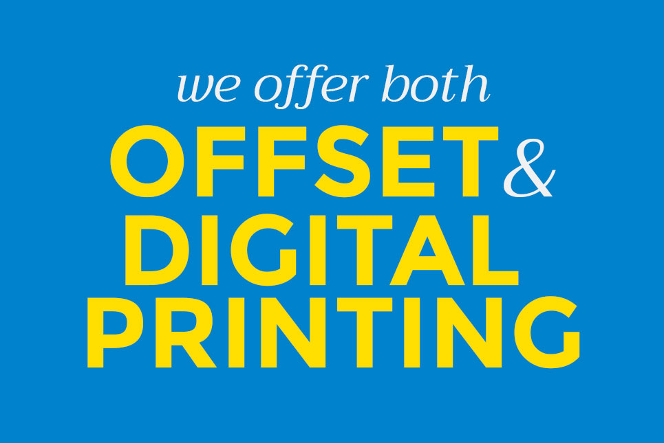 multicolor printing offset and digital printing