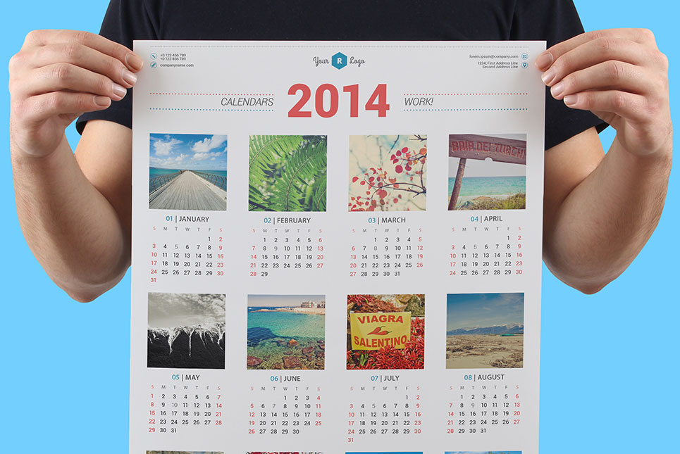 multicolor printing calendars