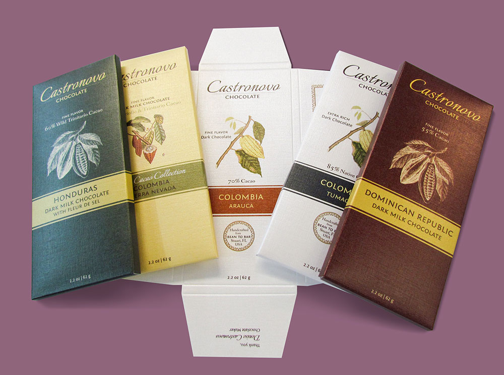 chocolate bar printing for castronovo chocolates