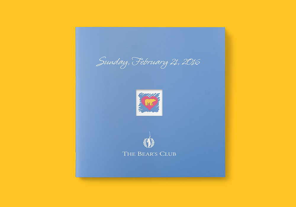 program printing for the bear's club