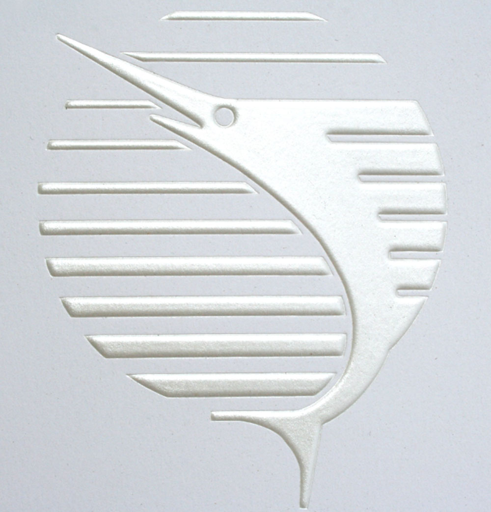 multicolor printing sailfish embossing